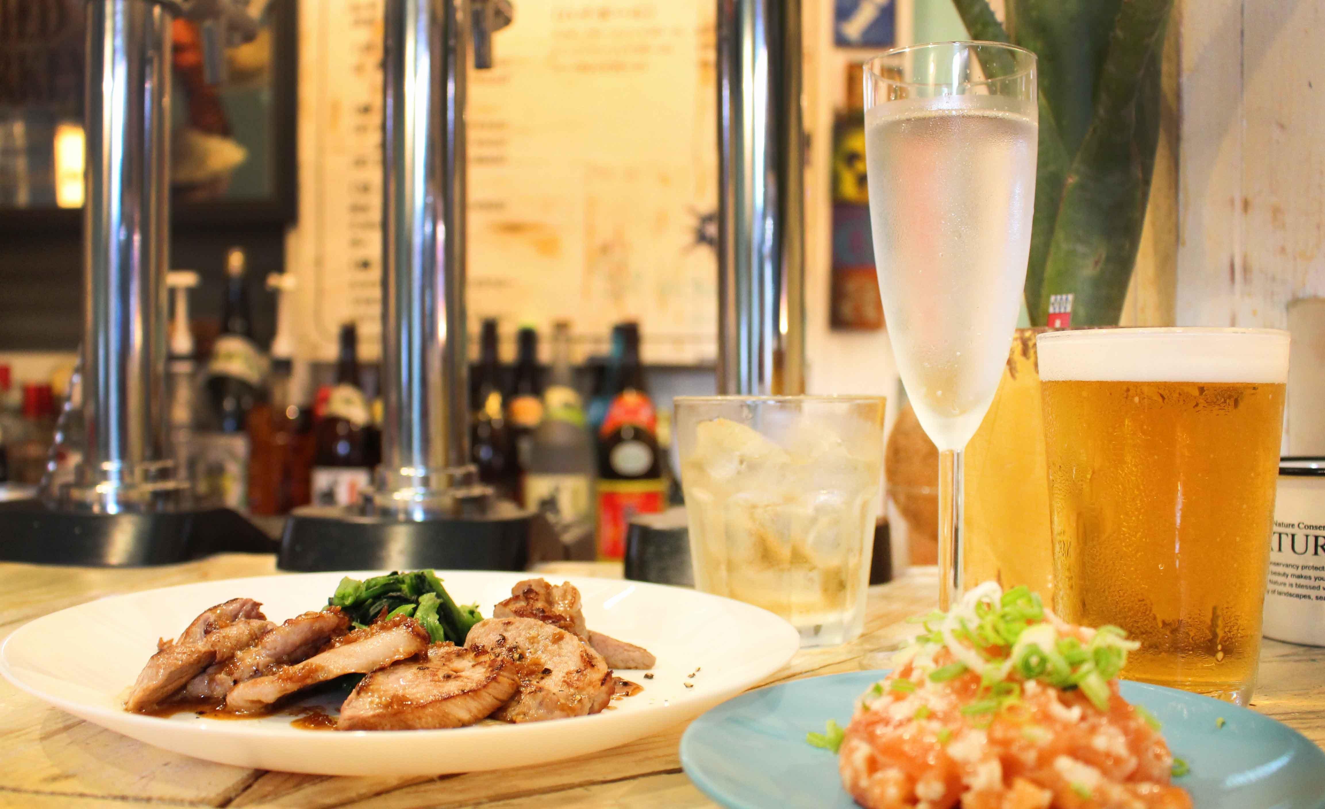 Sinada-高CP值|三杯酒 + 美味agu豬排 + 小菜