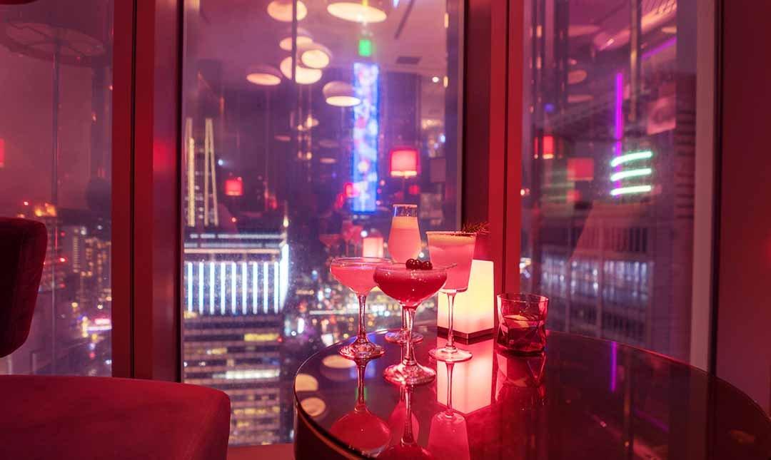 台北 W 飯店 31樓紫艷酒吧-夜艷雙人酒款|101高空夜景