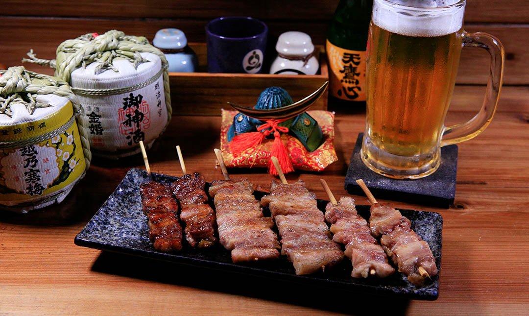 鳥重地雞燒-串燒 + 生啤酒