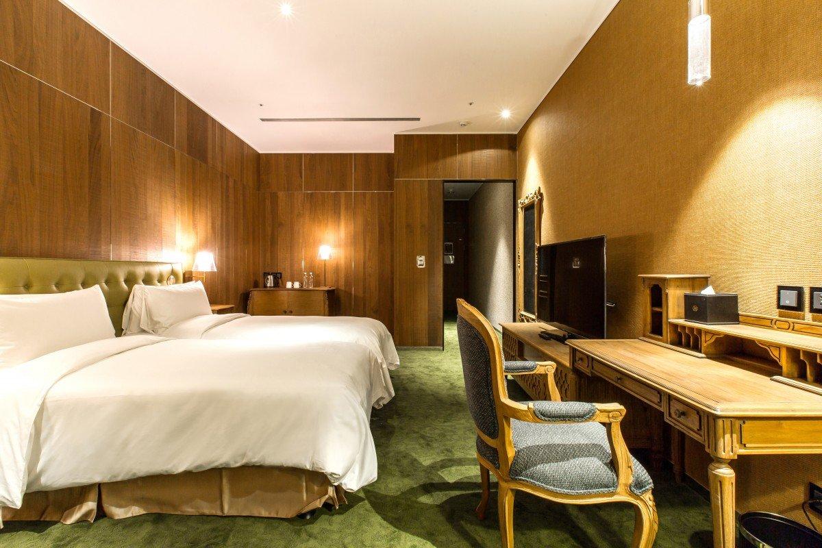 薆悅酒店 五權館-奢華歐洲風|精品客房兩小床
