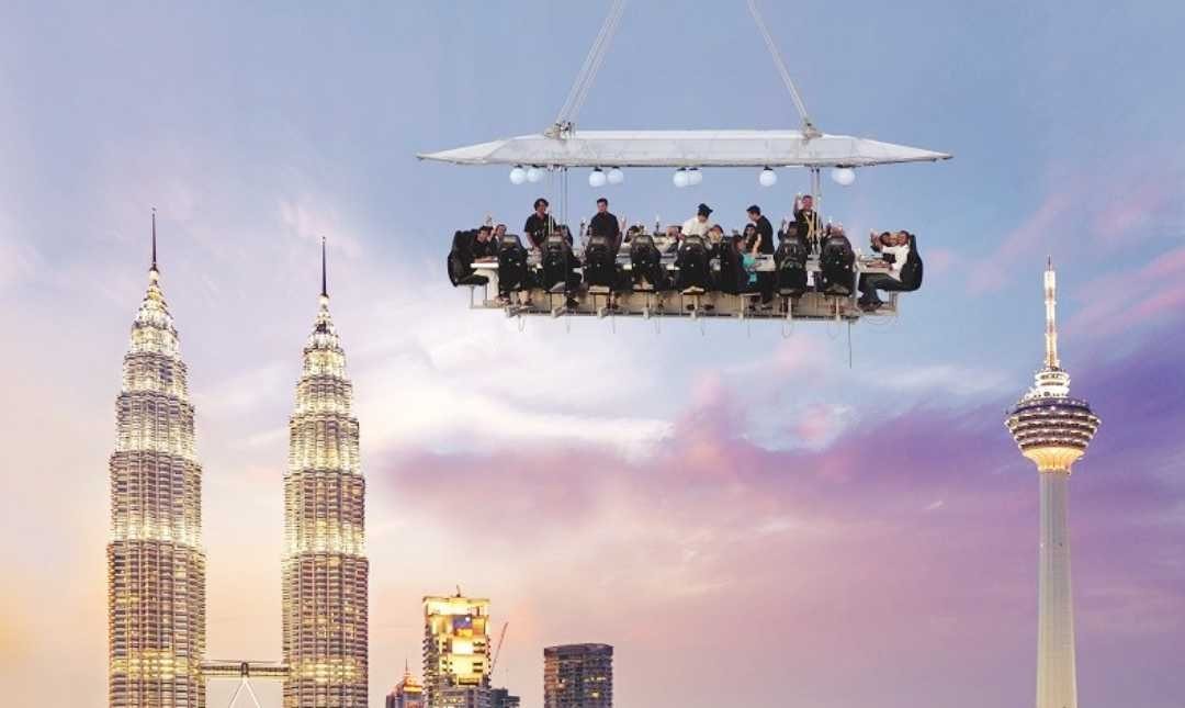 Dinner In The Sky-2 Person | Valentine's First Class Set Menu | 4 Courses