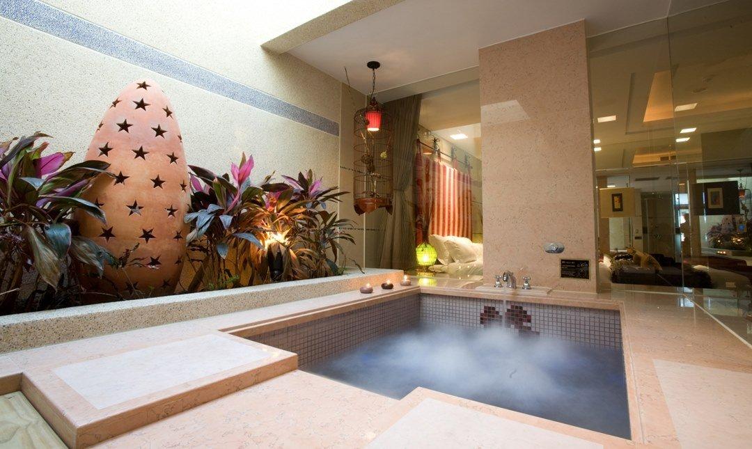 悅池精品旅館-經典豪華房 2h|自然綠光浴室