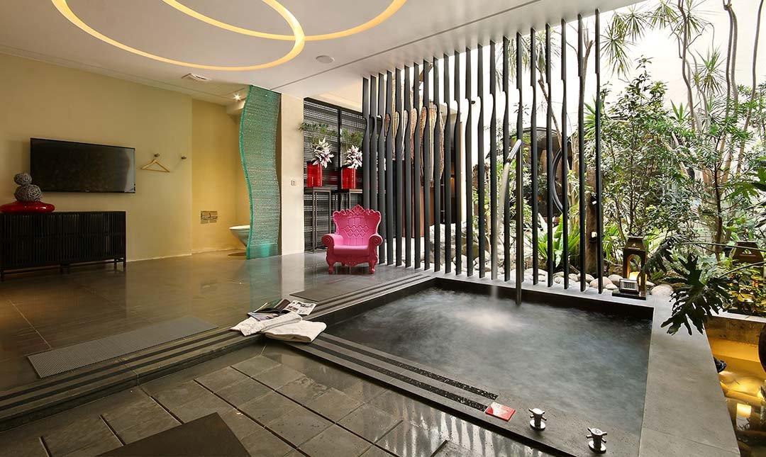 台中沐蘭精品旅館-楓舞A套房 | 大按摩浴池