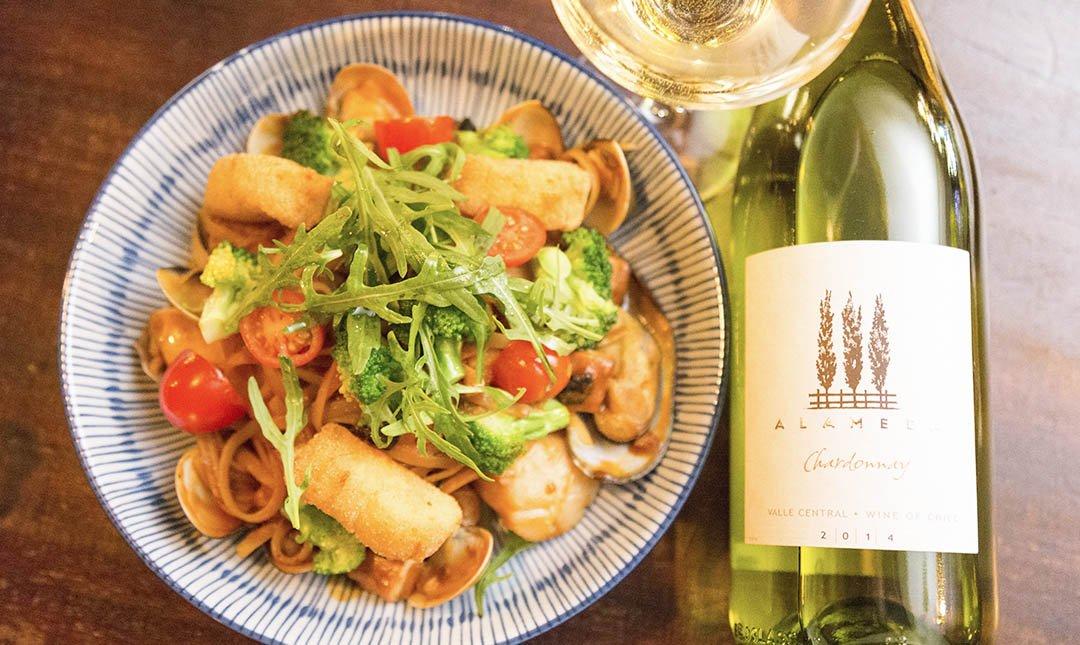 MOD Sequel 僖閣-海鮮扁麵 + 白酒