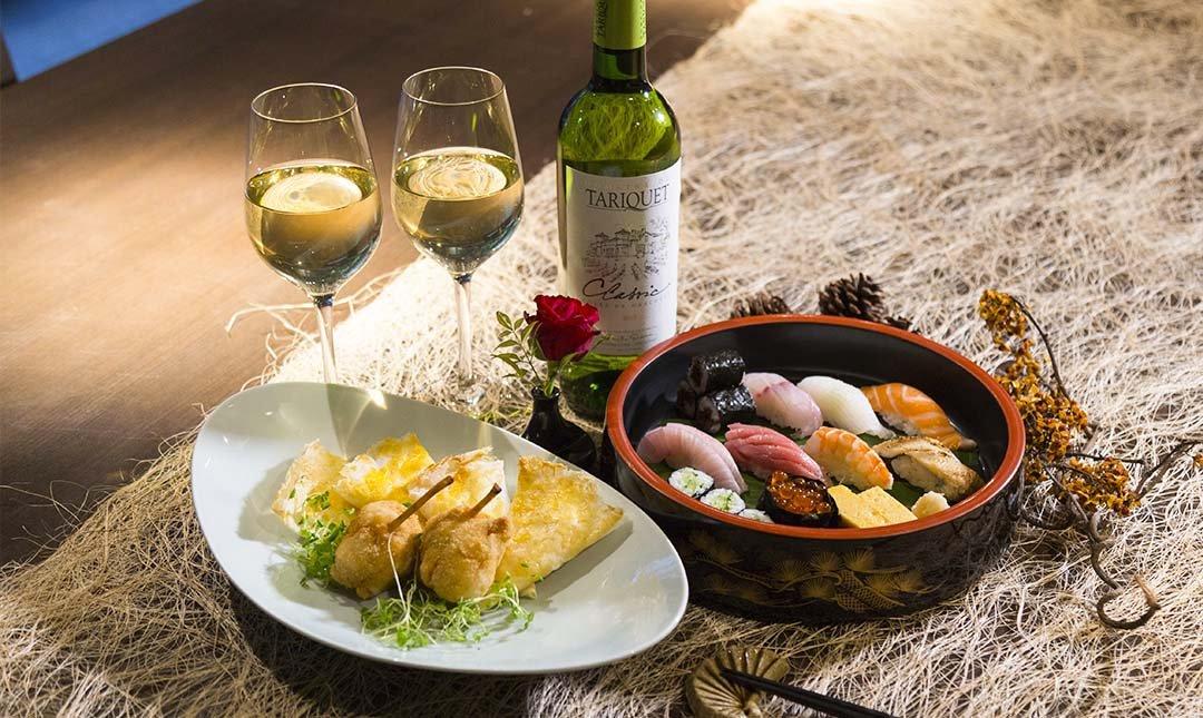 新都里懷石料理-部落客推薦 | 握壽司盤+小菜+酒