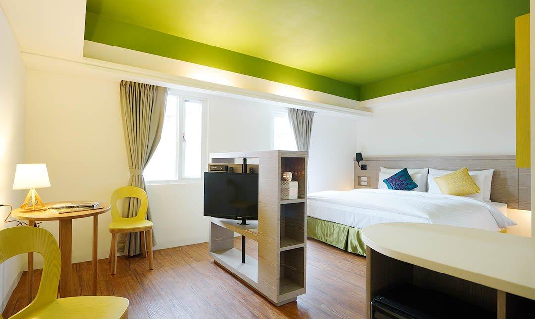 陽光士林珮柏旅館-Sun 房型|一大床