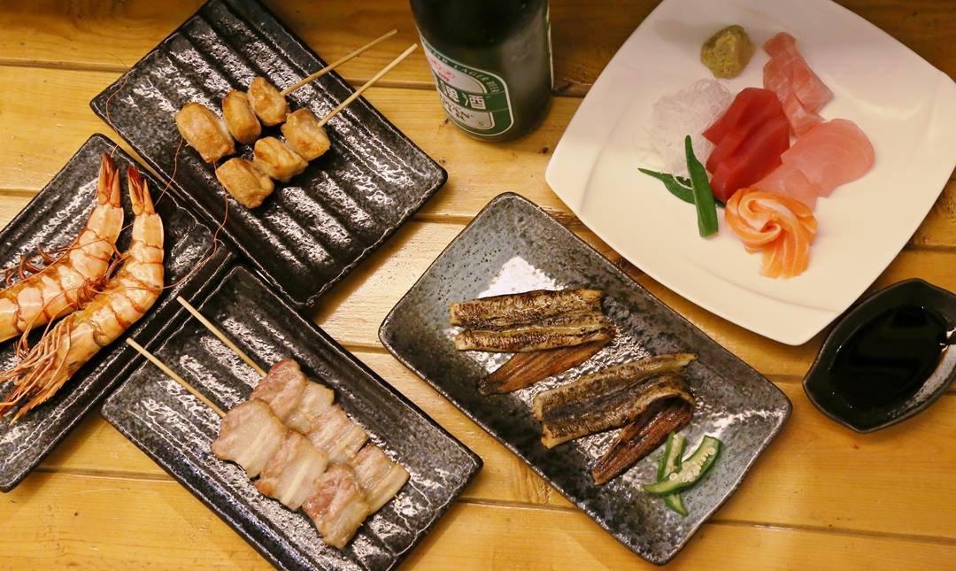 海人極究海鮮烤物-海人超狂雙人生魚片串燒套餐