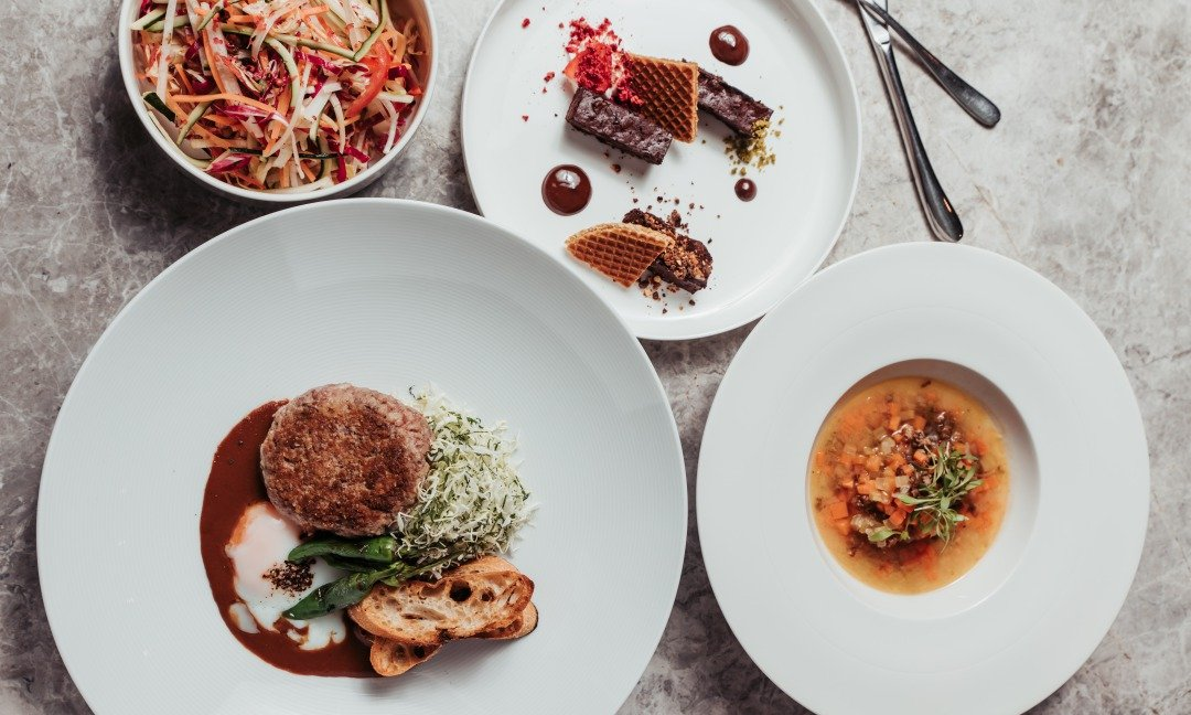 晶華酒店XGQ  肉食 Taste Lab-日式漢堡排一人套餐 ( 8 盎司 )