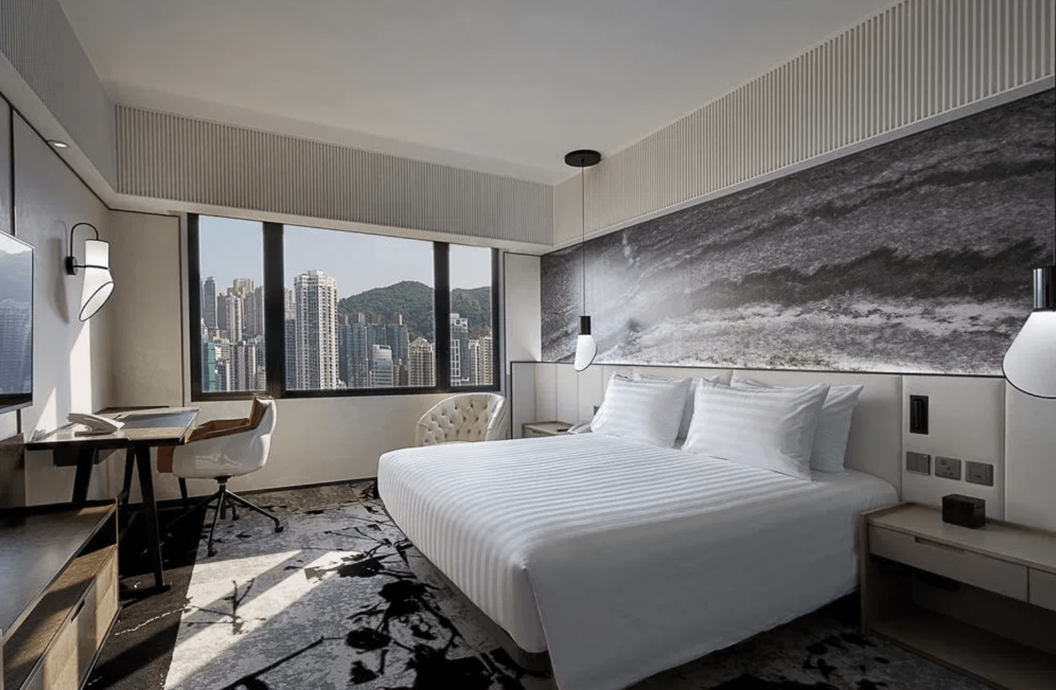 香港柏寧酒店 The Park Lane Hong Kong, a Pullman Hotel-尊貴鉑爾曼客房 + SKYE Roofbar體驗