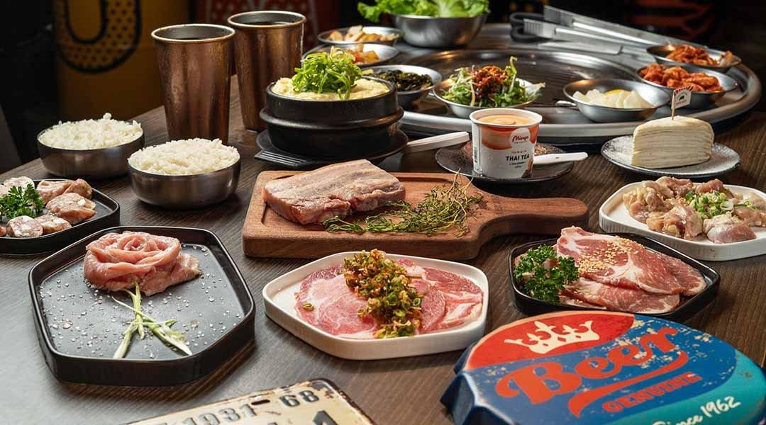 笨豬跳 韓式燒肉  台中店-優雅跳雙人套餐