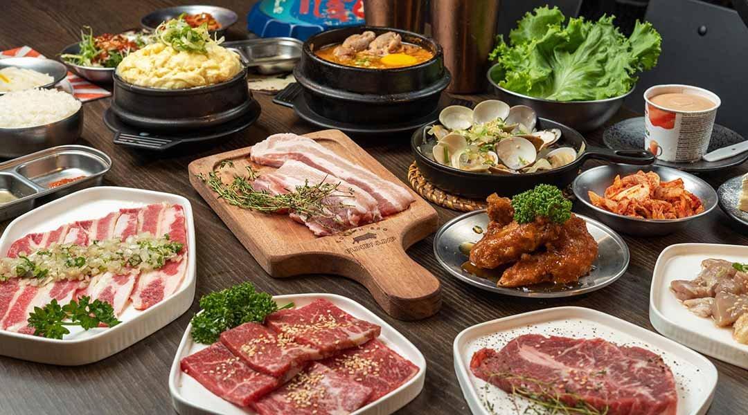 笨豬跳 韓式燒肉  台中店-笨豬跳雙人套餐