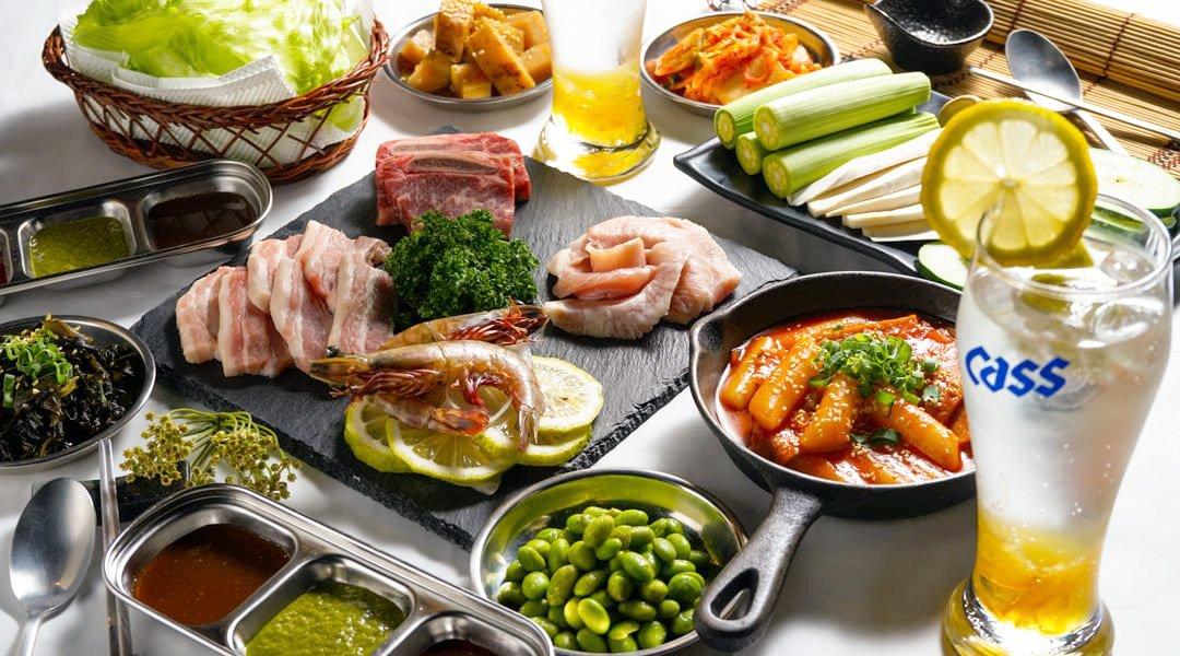 燒桶子 韓風立燒-經典雙人套餐 | 小菜無限續