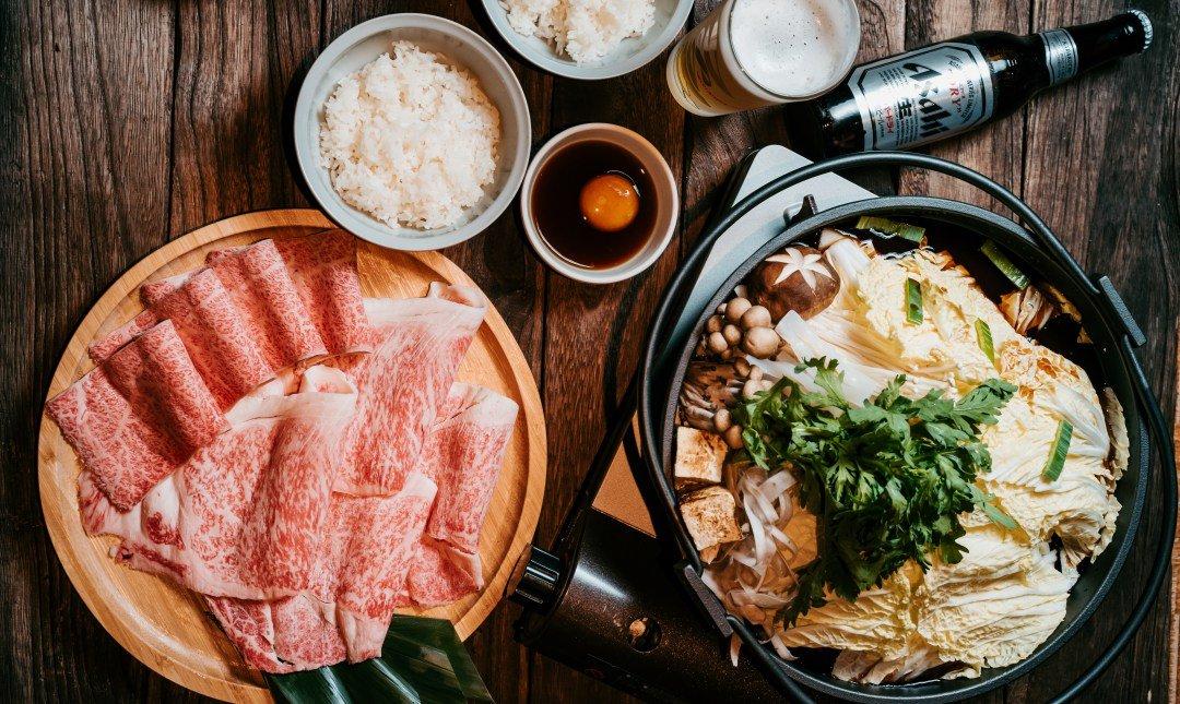 肉 RÒU by T-HAM-日本和牛三重奏壽喜燒兩人套餐
