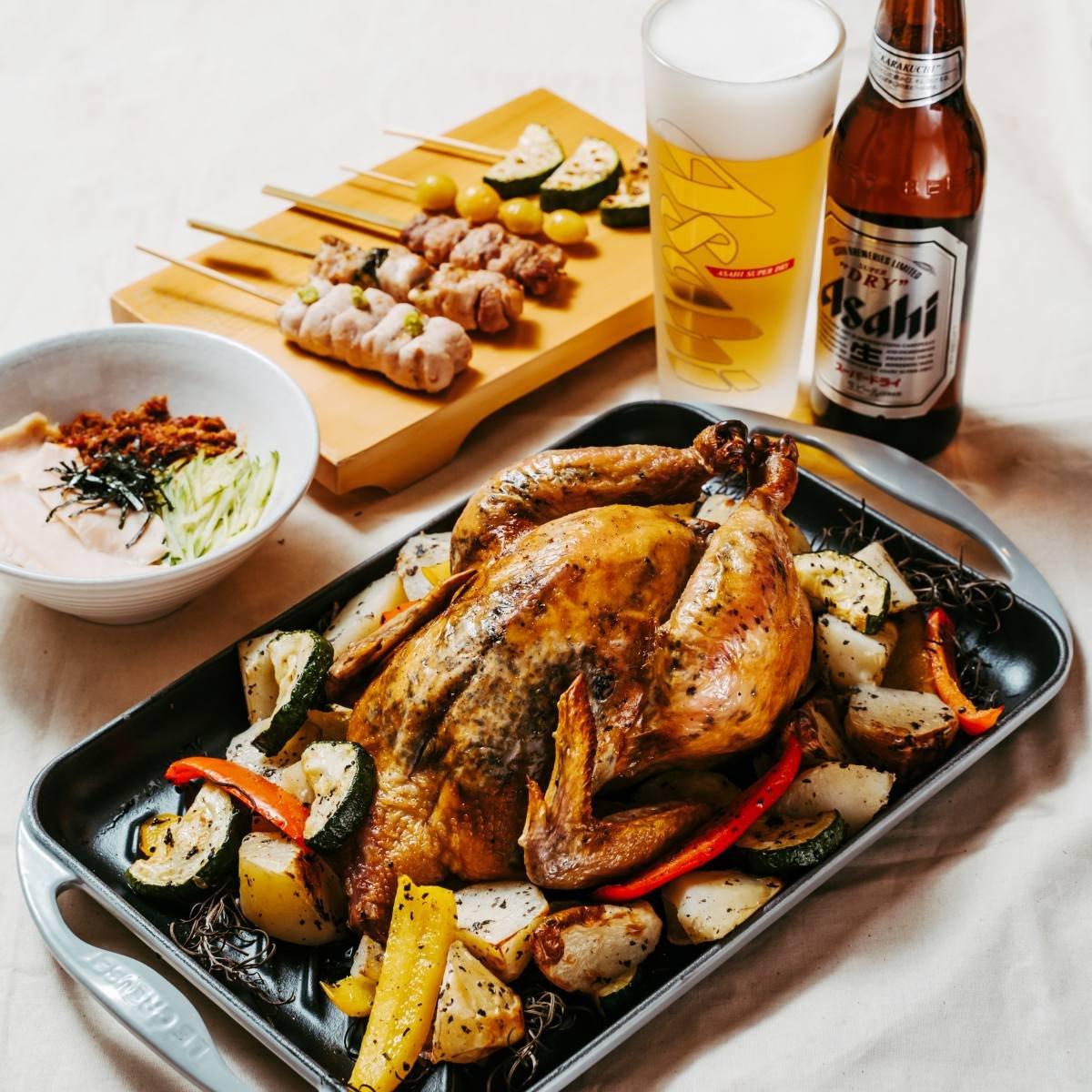 鳥哲燒物-松露烤雞四人套餐