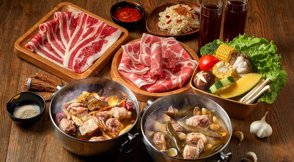 尬鍋 台北西門店-外帶限定|雙人牛豬套餐