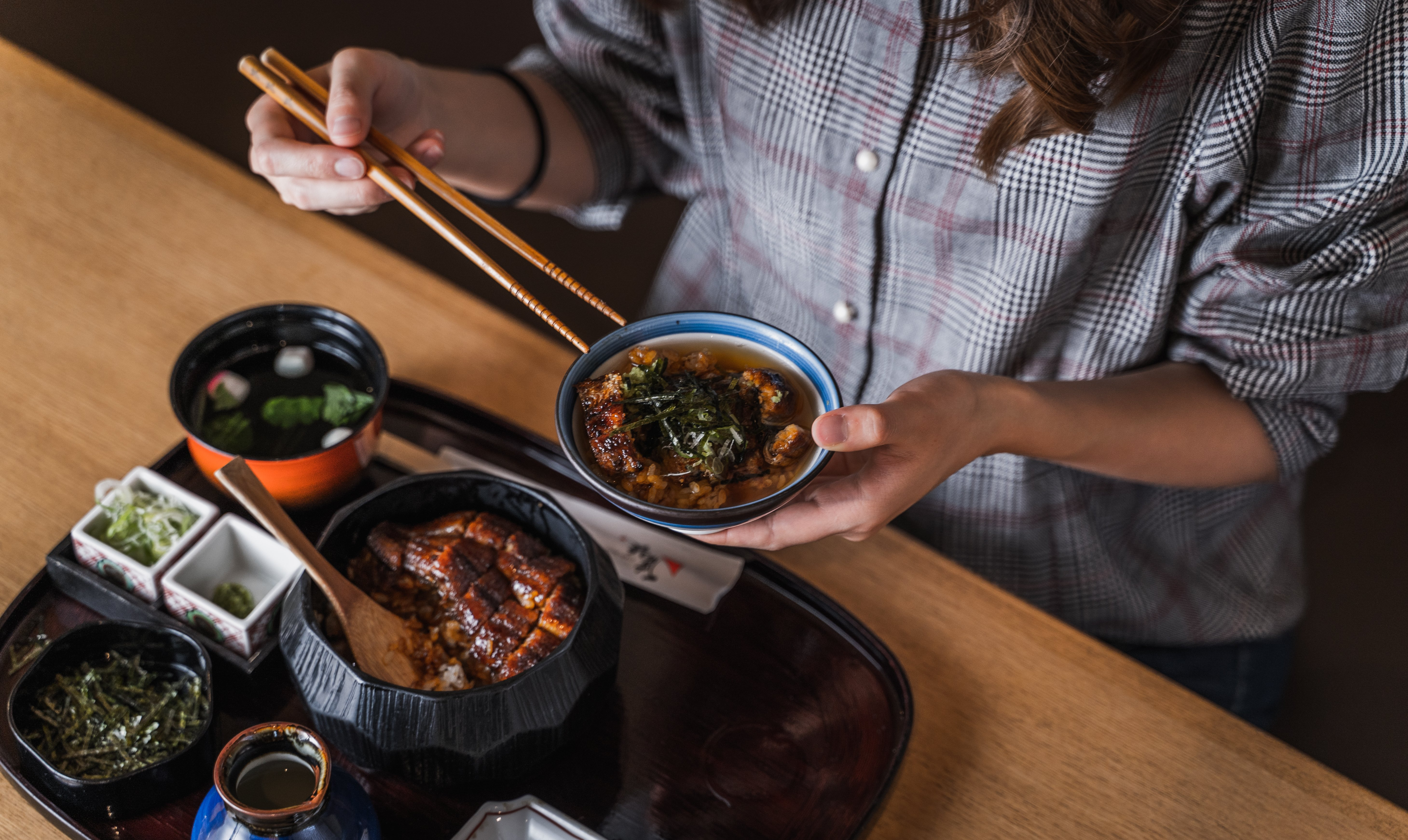 鰻魚三吃名古屋備長-東京晴空塔・Solamachi店-「華」備長會席料理套餐