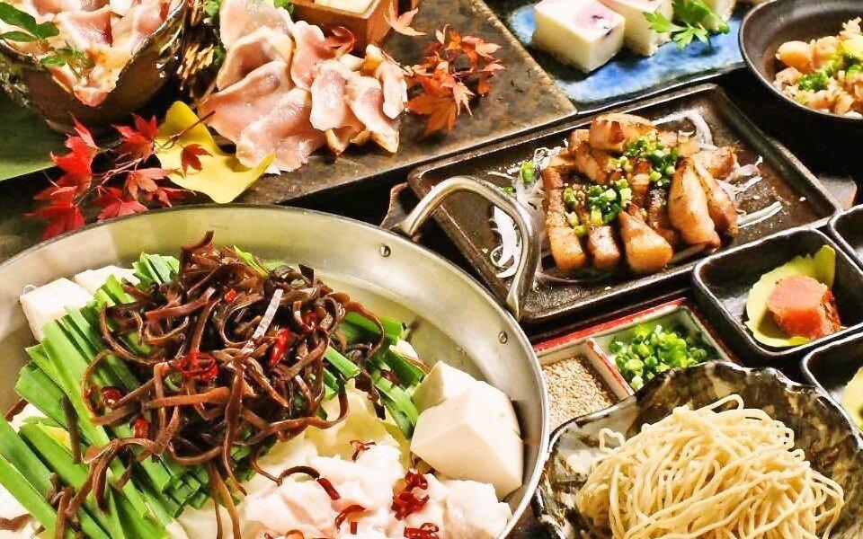 水炊鍋・馬肉刺身 ANDO 西麻布-僅含餐點全 8 品|博多牛腸鍋套餐