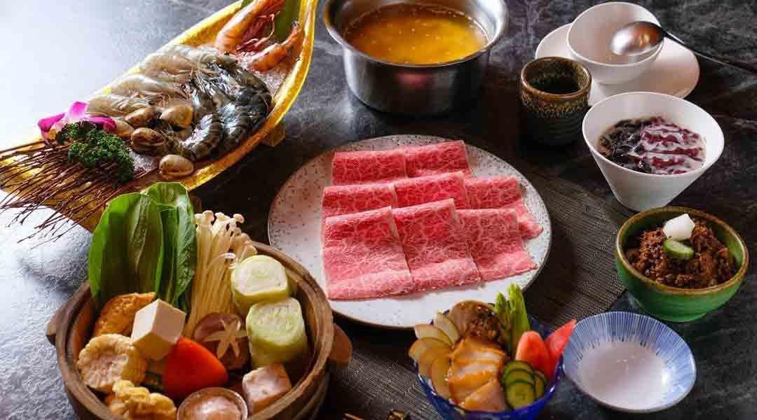 自然風 shabu shabu 精品料理屋|台北火鍋-明蝦和牛單人套餐|升級鮑魚沙拉