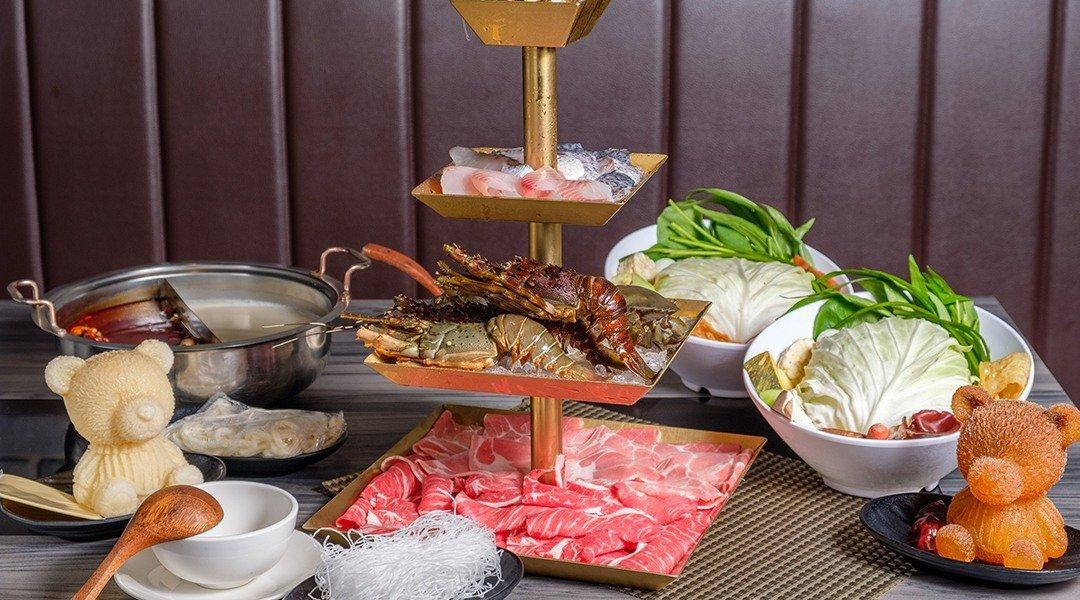 圓味涮涮鍋 民族店|台北麻辣火鍋-雙人海鮮套餐|蝦兵蟹將軍團