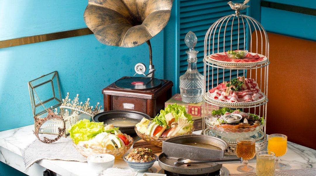 久違石頭火鍋|台中火鍋-鳥籠海陸燒烤雙人套餐