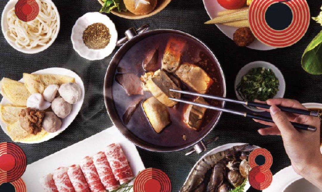 台北麻辣鍋 紅九九個人鴛鴦鍋 食物