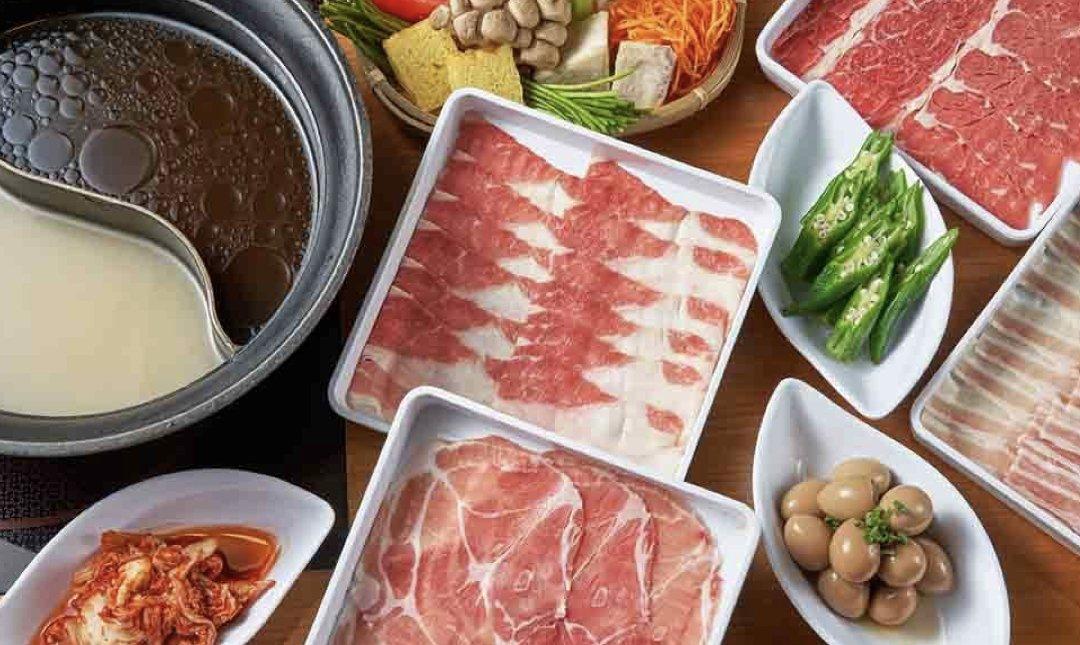 台北涮涮鍋 溫野菜 食物