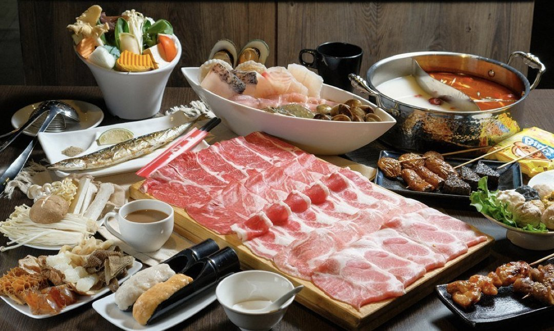 台北火鍋吃到飽 紅蟹將軍 食物