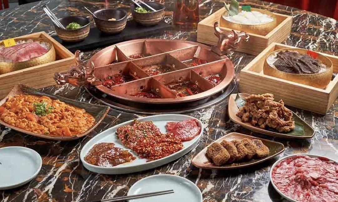 台北精緻火鍋店 麻辣45 食物
