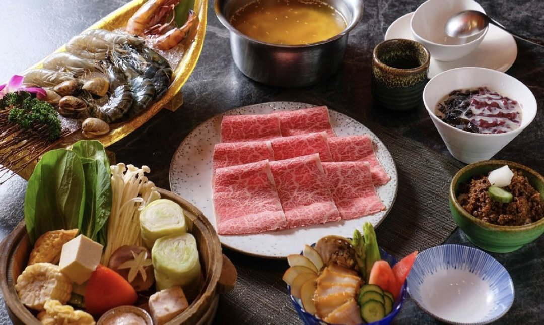 台北精緻火鍋 自然風 shabu shabu 食物