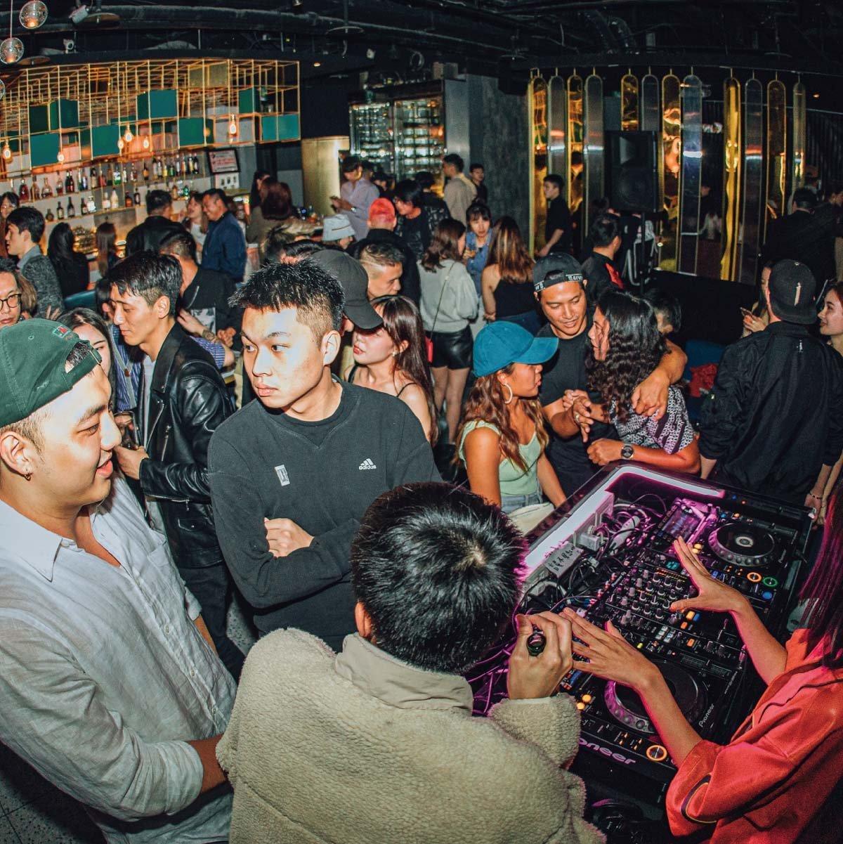 people in nightclub