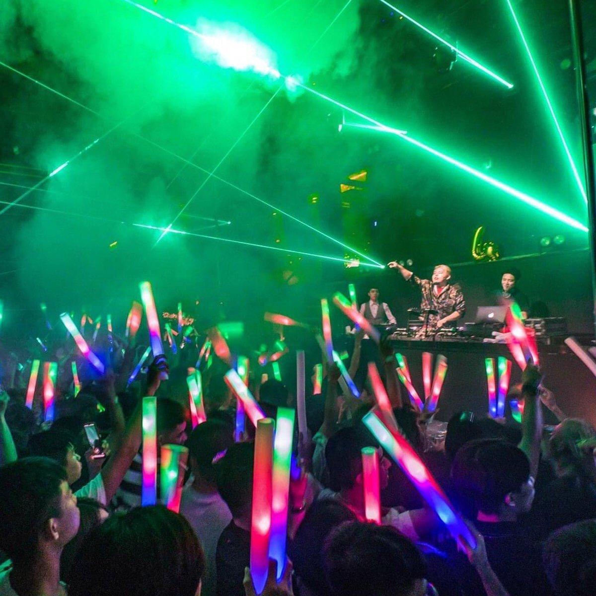 DJ and spotlight