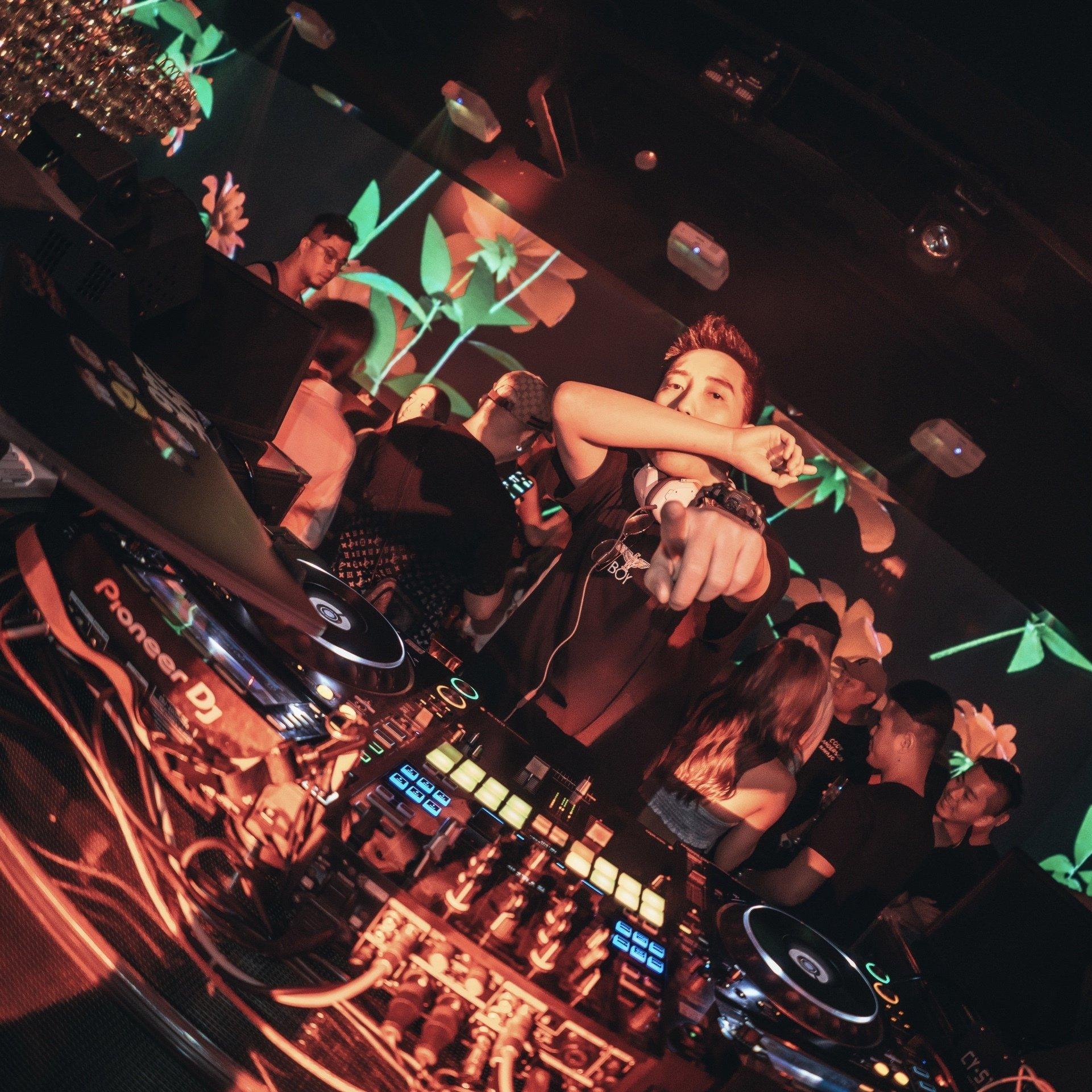 nightclub and DJ
