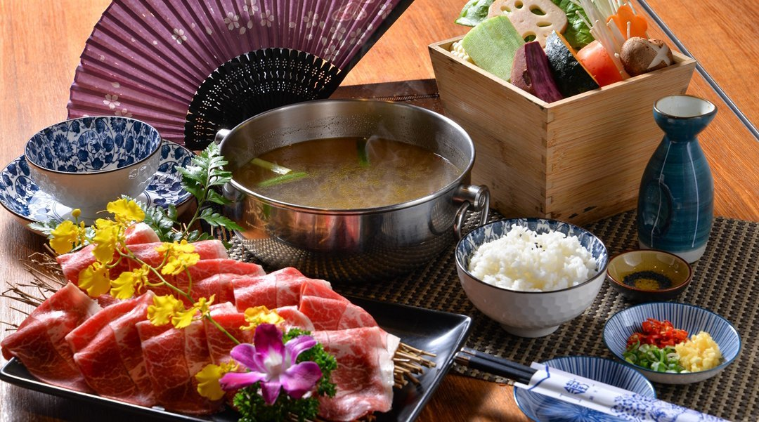 Japanese style hot pot set