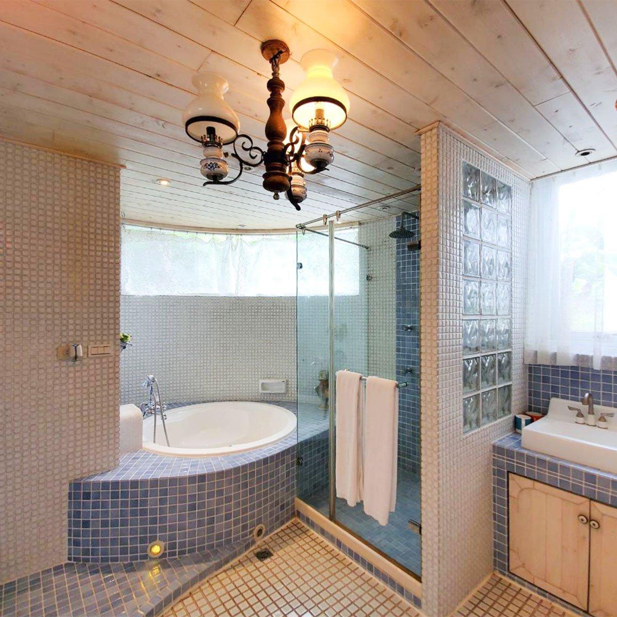 bathtub and tank